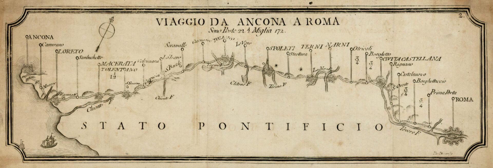 F. De Caroly, Viaggio da Ancona a Roma (1786).